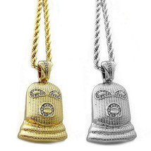 """Hip Hop Iced Out Goon Ski Mask Man Pendant 4mm 30"""" Franco Chain Necklace RC2461G - $11.99"""