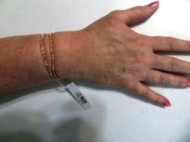 "Charter Club 6"" Two Strand Gold Tone Peach Stone Stretch Bracelet HH466 - $9.59"