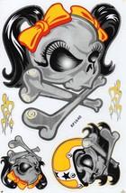 D270 Skull Head Bones Dead Decal Racing Tuning Size 27x18 cm / 10x7 inch - $3.49