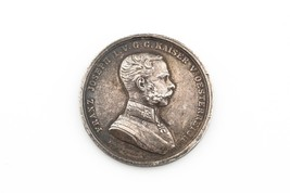 1870-1880 Austria Silver Medal Award for Bravery XF High Relief Der Tapf... - $64.35