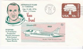 ASTRONAUT VANCE BRAND FLIES A-7 DIGITAC EDWARDS CA AUGUST 12 1976 - $1.98