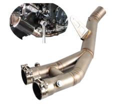 Motorcycle Middle Link Exhaust Muffler Pipe Eliminator Race Exhaust Mid - $227.45