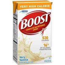 Nestle Boost VHC 4390018216 Oral Supplement, Very Vanilla, 8 oz Carton, 27 Ct - $89.05