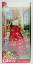 Christmas Barbie Holiday Doll 2016 Red/Silver Dress New in Box Collectors - $25.95