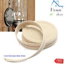 1 inch Flat Cotton Wick 15 feet Oil Lamp Lantern DIY Construction - $14.12