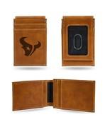 NFL Houston Texans Laser Engraved Front Pocket Wallet - Brown - $26.45