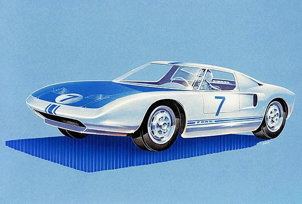 Primary image for 1963 Ford GT40 Concept Car - Promotional Poster