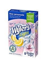 Wyler's Light Pink Lemonade Singles To Go Drink Mix, 8 CT (Pink Lemonade... - $9.07
