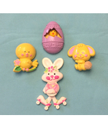 Vintage Avon Pin Pals lot of 4 Rapid Rabbit Cottontail bunny Easter Egg ... - $10.00