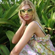 Square Oversized Sunglasses Women  Steampunk Vintage Sunglasses Fashion Retro Su image 2