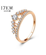 17KM® Cubic Zirconia Crown Ring For Women Fashion Rose Gold Color Crysta... - $5.37