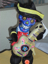 Halloween Animated Musical Day Of The Dead Plush Mariachi with Guitar - €26,50 EUR