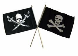 "12x18 12""x18"" Wholesale Combo Pirate Brethren Coast & No Patch Stick Flag - $22.00"