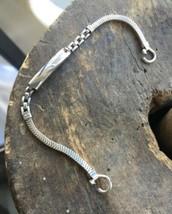 "Vintage 12K White GF Gold Filled Forstner Snake Mesh Chain Watch Band 5.5"" - $53.99"