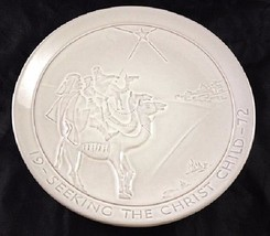 Frankoma Pottery Christmas Collectors Plate 1972 Seeking The Christ Child - $18.69
