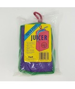 NEW VINTAGE INSULATED JUICER FOR JUICE BOX HOLDER PURPLE & GREEN BAG W/ ... - $27.12