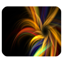 Mouse Pads Abstract Art Rainbow Flowers With Black Design Animation Mousepads - $6.00