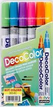 DecoColor Opaque Paint Markers (Set of 6 Hot Colors) -  Fine Tip - $15.95