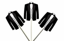 Crafty Cue Tuxedo Cupcake Toppers - 12 Count - $11.99
