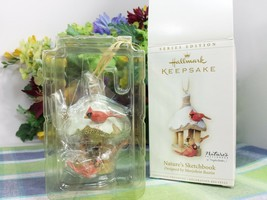 Hallmark Nature's Sketchbook ornament 2006 Cardinals at Feeder - $35.77