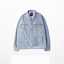 Light Blue Denim Jacket Clothing  Hiphop Men Jean Jackets China Size - $48.24