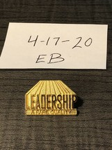 Vintage Leadership A Rare Quality Goldtone Pin - $14.84