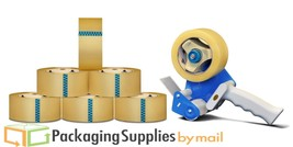 "6 Rls Package Shipping Box Packing Tape W/Dispenser 3"" x110 Clear Carton... - $21.33"