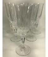 SALZBURG Cristal De Flandre Champagne Glasses - Set of 6 - 24% Cristal - $49.45