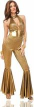Costume Culture Disco Diva 70s Jumpsuit Adult womens Halloween costume 4... - $53.56