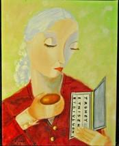 "E MADONNA Acrylic on Board by Artist Leean Swanson 11"" by 14""  Original ... - $150.00"