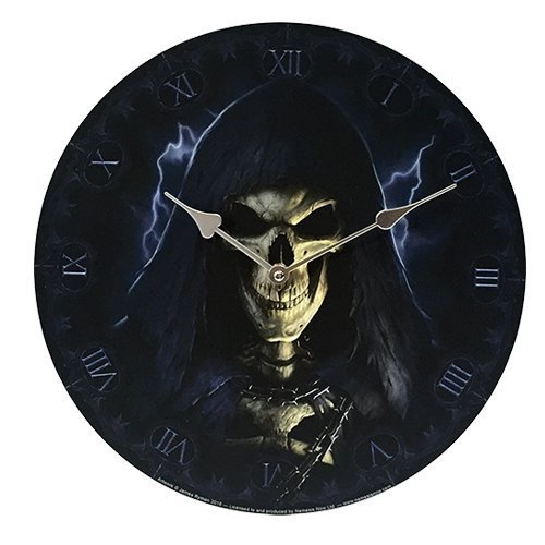 "Primary image for Grim Reaper Wall Clock By James Ryman Gothic Round Plate 13.5"" D"