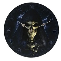 "Grim Reaper Wall Clock By James Ryman Gothic Round Plate 13.5"" D - $19.79"