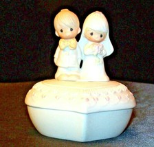 1981 Precious Moments E-7167 Jewelry Box 2 Pieces AA-191820 Vintage Collectibl image 1