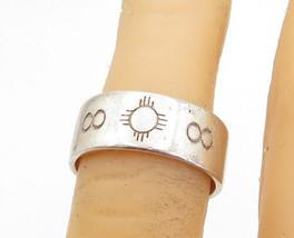 SCJ 925 Sterling Silver - Vintage Petite Etched Pattern Band Ring Sz 5.5- R17700 - $27.96