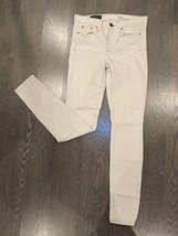 J. Crew Toothpick Ivory Denim Mid Rise Skinny Stretch Ankle Jeans Size 2... - $19.79