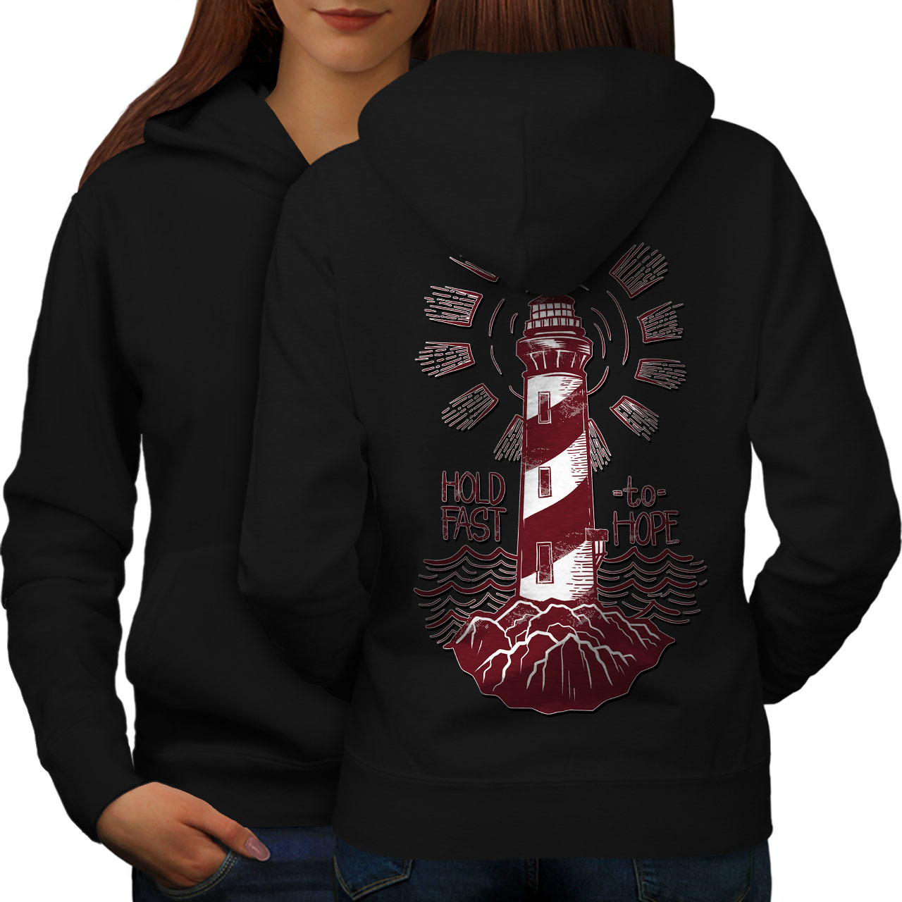 Primary image for Lighthouse Hope Fashion Sweatshirt Hoody Light House Women Hoodie Back