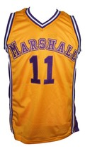 Arthur Agee Hoop Dreams Movie Basketball Jersey New Sewn Yellow Any Size image 4