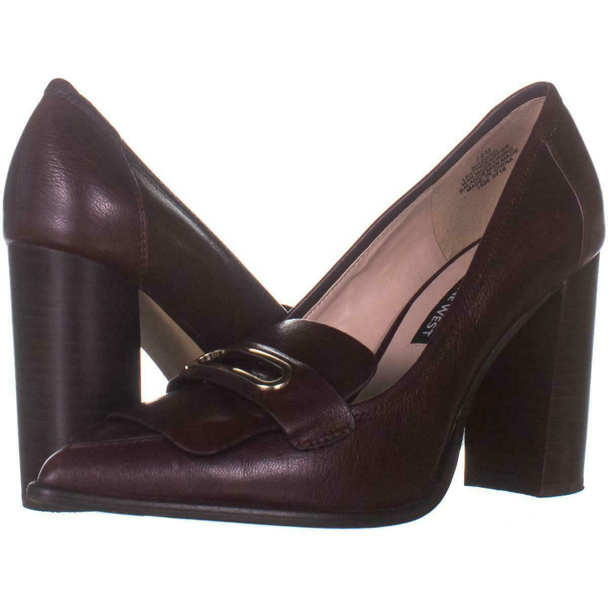 Nine West Zoro Pointed Toe Loafer Style Classic Heels 366, Dark Purple, 7.5 US - $28.79