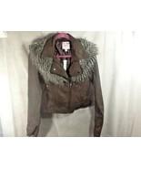 Romeo & Juliet Couture Womens Moto Jacket w/ Faux Fur Collar NWT Sz Medium - $44.99