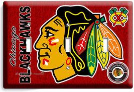 CHICAGO BLACKHAWKS HOCKEY TRIPLE LIGHT SWITCH WALL PLATE GAME BOYS ROOM ... - $14.39