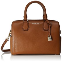 Michael Kors MERCER Pebbled Leather Medium Leather Duffel Bag Luggage Nw... - $188.09