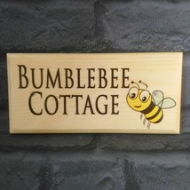 Personalised Bee Sign, Bumblebee Cottage Plaque House Name Number Garden... - $12.35