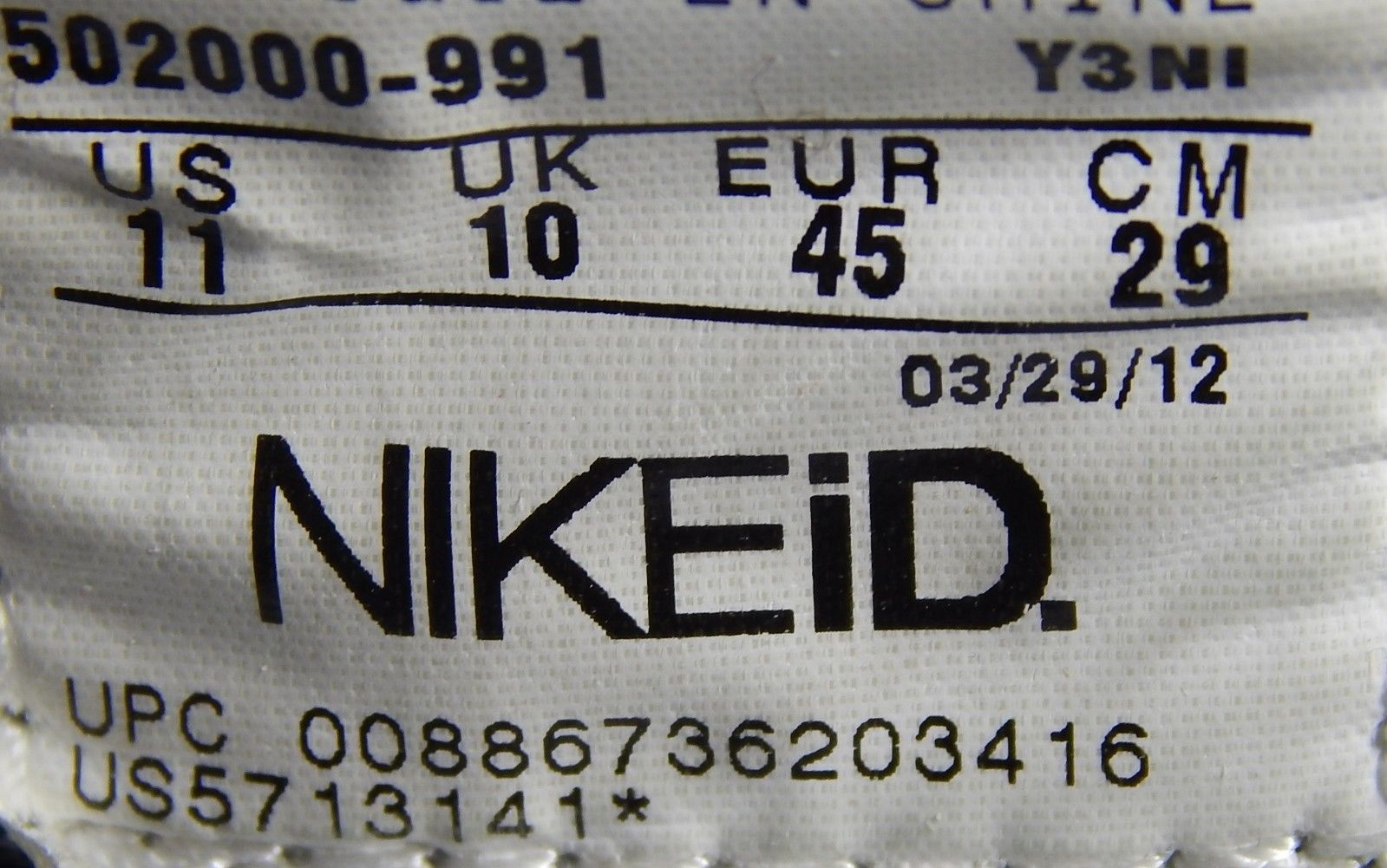 sale retailer 6cb4c 7a8f0 Nike ID Air Zoom Dunk Size US 11 M (D) EU 45 Men s Athletic
