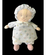 Vintage Carters Plush Doll Blonde Sheep Duck Print Rattle Lovey - $49.49