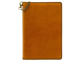 YELLOW LEATHER JOURNAL WITH REFILLABLE A5 NOTEPAD - THE DIARY OF A NOBODY  - $73.00