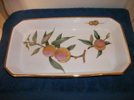 Royal Worcester Evesham Gold Baking Dish Rectangle Server Casserole Platter - $39.99