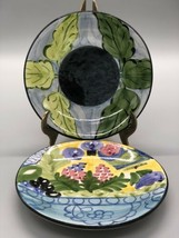 """(2) CRATE & BARREL FAVANOL HAND PAINTED 6"""" PLATES MADE IN PORTUGAL - $38.70"""