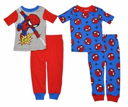 Marvel Boys Spidey In Training 4 Piece Cotton Pajama Set - Size 2T - Blue/Red - $24.70