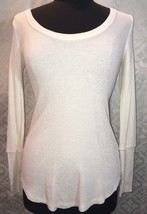 Splendid XS Longsleeve Shirt Womens Cream Longjohns Top Thermal Long Sleeve - $43.37