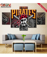Pittsburgh Pirates Wall Art Canvas Painting Home Decor Poster Print - $28.80+